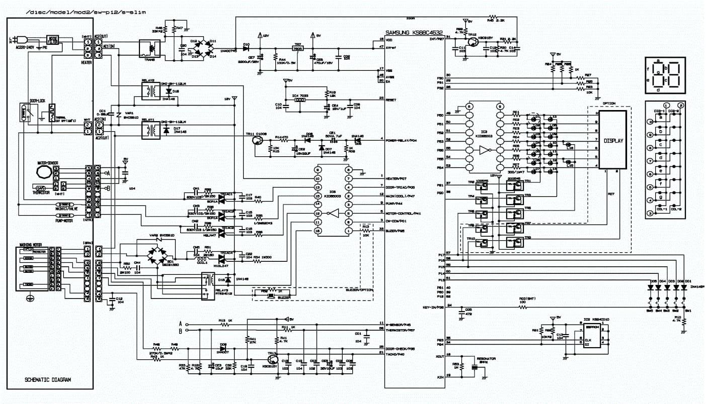 Схема модуля стиральной машины самсунг фото 709
