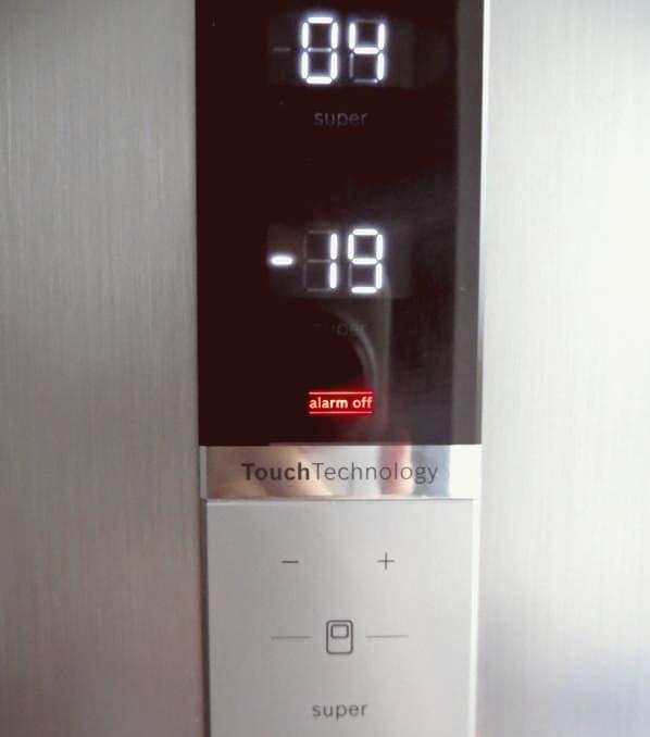 Загорелось сообщение Alarm Off на холодильнике Bosch