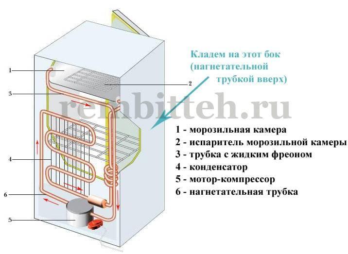 Как правильно перевозить холодильник лежа на боку