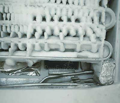 Снежная шуба на испарителе No Frost