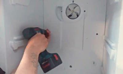 Ремонт вентилятора - откручиваем заднюю стенку