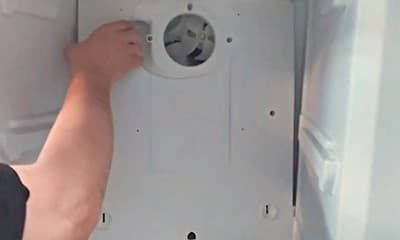 Ремонт вентилятора - снимаем заднюю стенку
