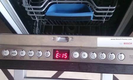 Ошибка Е15 в посудомоечной машине БОШ
