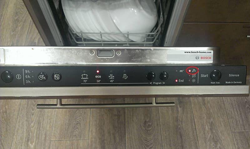 Горит краник на посудомоечной машине Bosch