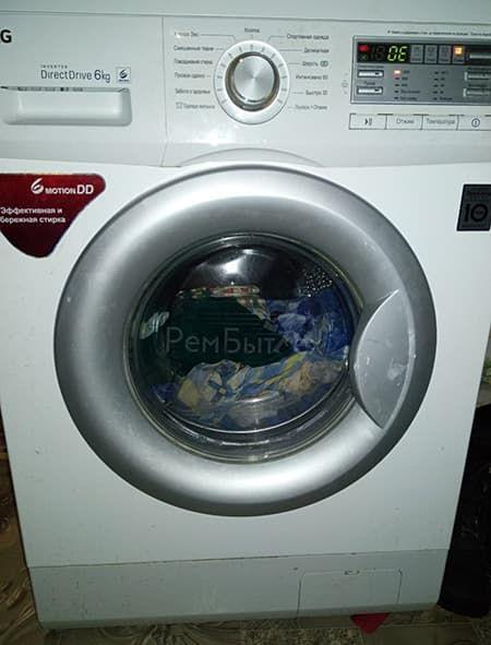 Cтиральная машина LG не сливает воду