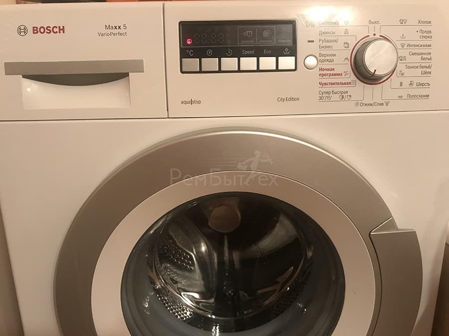 Стиральная машина Bosch не отжимает белье