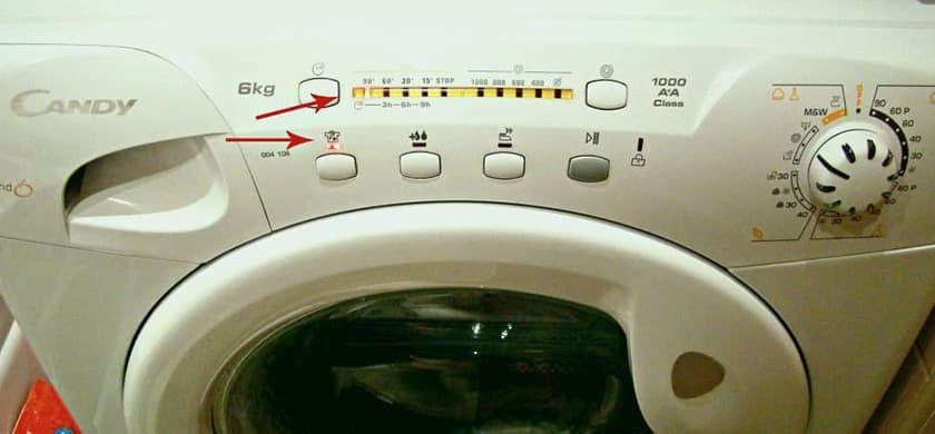 Ошибки стиральных машин Candy Grand без дисплея