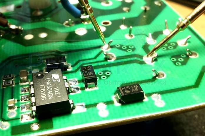 Диагностика электронного модуля стиральной машины