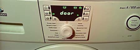 Ошибка Door в стиральной машине Атлант