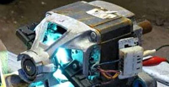 Искрит двигатель стиральной машинки