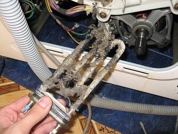 Сгорел ТЭН в стиральной машине Whirlpool