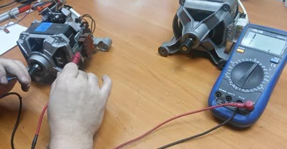 Прозваниваем тестером двигатель стиральной машины