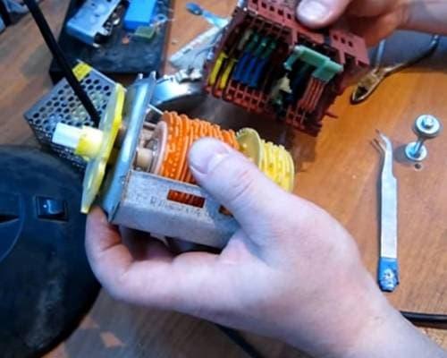 Разборка программатора стиральной машины