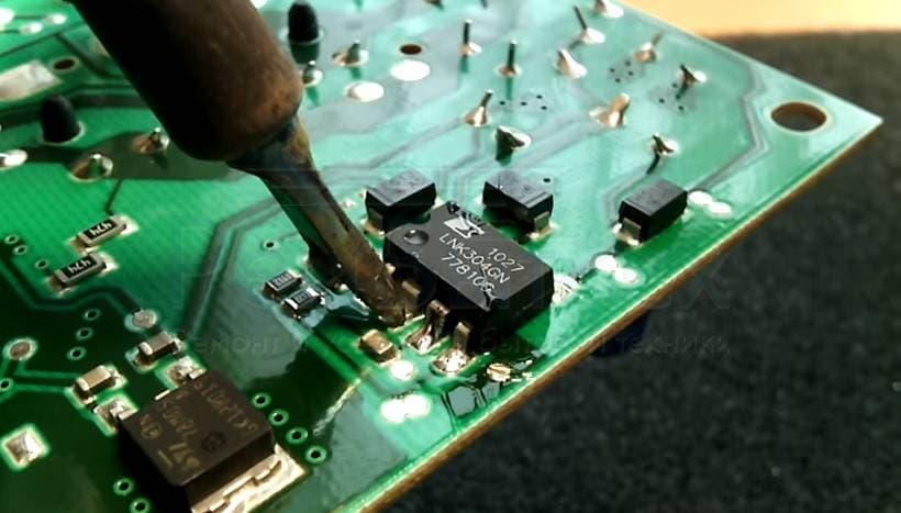 Ремонт электронного модуля управления стиральной машины