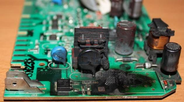 Cгорел электронный модуль стиральной машины