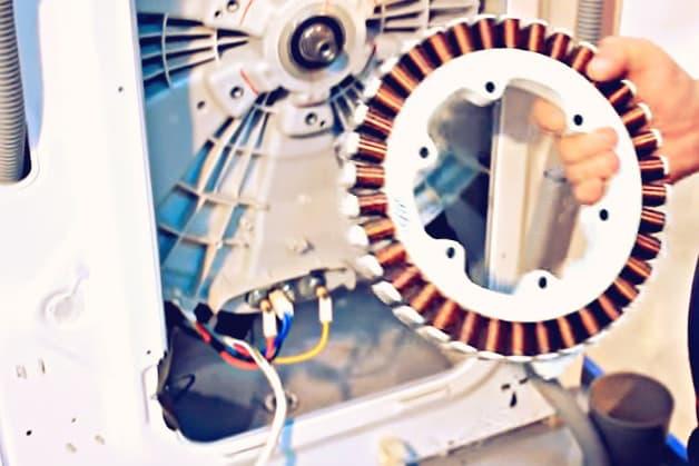 Стиральная машинка LG с прямым приводом: сняли статор мотора