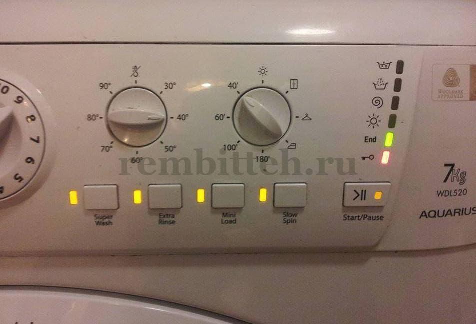 Мигание индикаторов показывает код ошибки. в стиральной машине мигают  индикаторы cf424c6843633