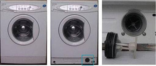 çamaşır makinesinde tahliye filtresi