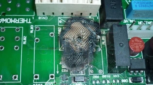 Выгорели дорожки в электронном модуле управления стиральной машины