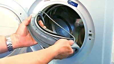 Вынимаем манжету люка из стиральной машины