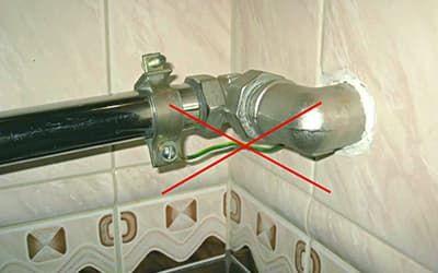 Заземление стиральной машины на стояк с горячей водой