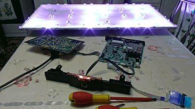 Диагностируем подсветку - проверяем, какие светодиоды сгорели