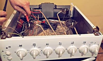 Проверка свечи электоподжига газовой плиты