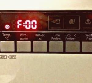 ошибка F00 в стиральной машине Бош