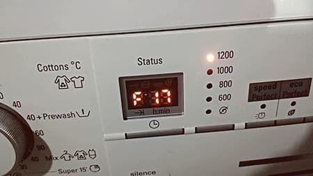 Ошибки F17 и Е17 в стиральной машине Bosch