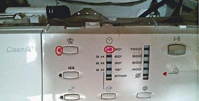 Индикация ошибок в стиральных машинах Candy Smart без дисплея