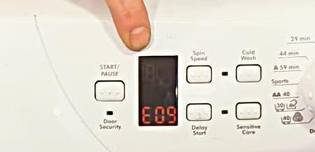 Ошибка E09 в стиральной машине Канди