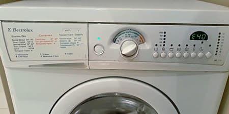 Ошибка Е40 в стиральной машине Электролюкс