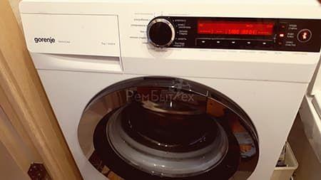Ошибка F7 в стиральной машине Gorenje