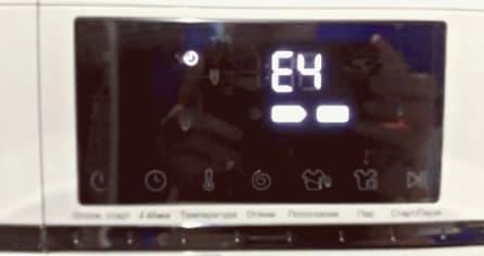 Ошибка Е4 в стиральной машине Хайер
