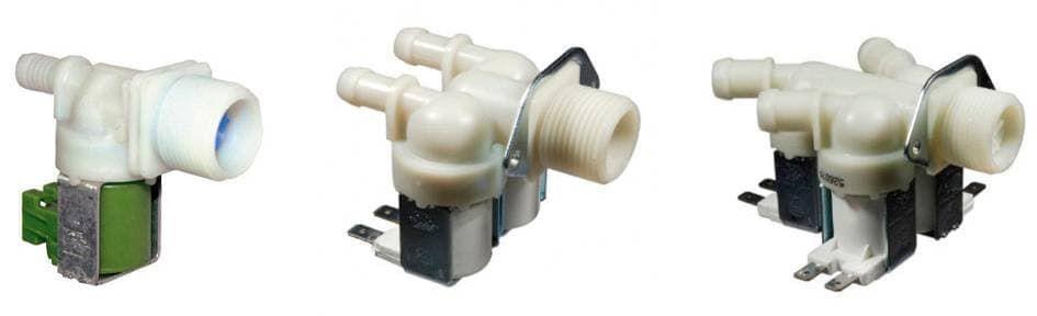 Заливные клапаны стиральной машины с числом секций от 1 до 3