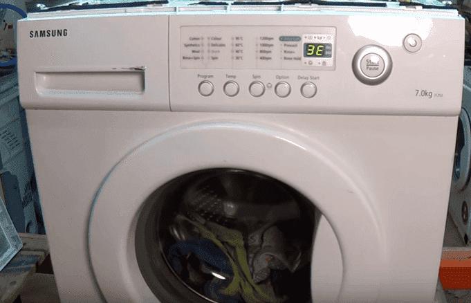 Стиральная машина самсунг ошибка 5е ремонт своими руками 104